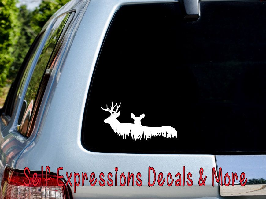 A personal favorite from my etsy shop https www etsy com car decalsvinyl decalsetsy shopdeercar decalred deercar stickersreindeersambar deer