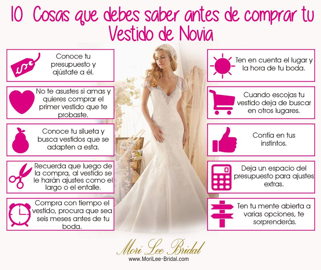 10 Cosas que Debes Saber antes de Comprar tu Vestido de Novia. #boda ...