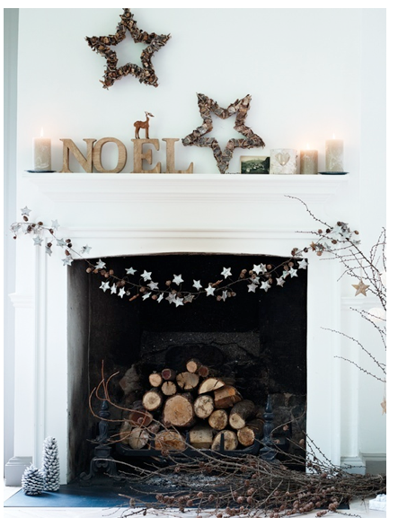 Minimalist Mantel Decor Christmas