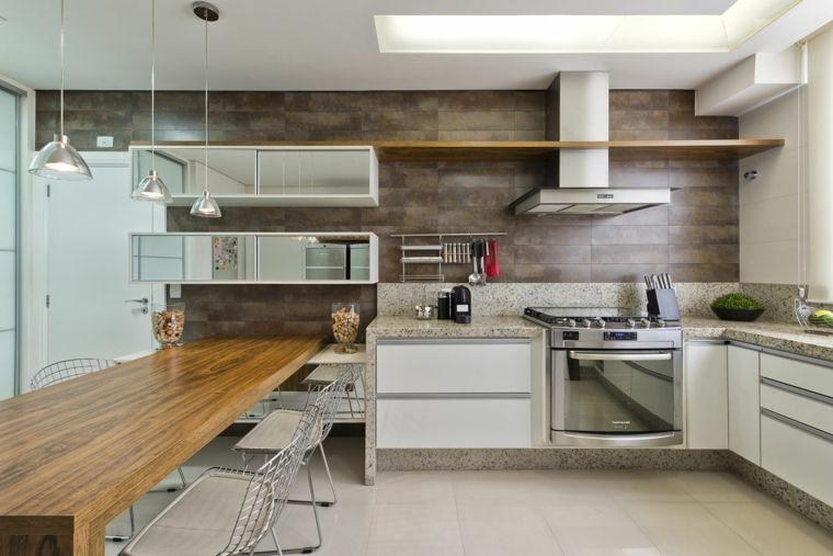 Pannelli Per Cucine Moderne.Esempio Cucine In Muratura Moderne Mobili Bianchi Grande