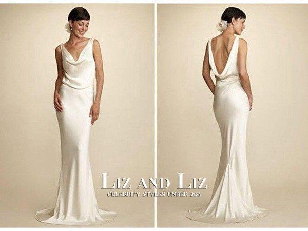 Image Result For Jackie Kennedy Wedding Dress Replica Slinky Wedding Dress Slip Wedding Dress Cowl Neck Wedding Dress