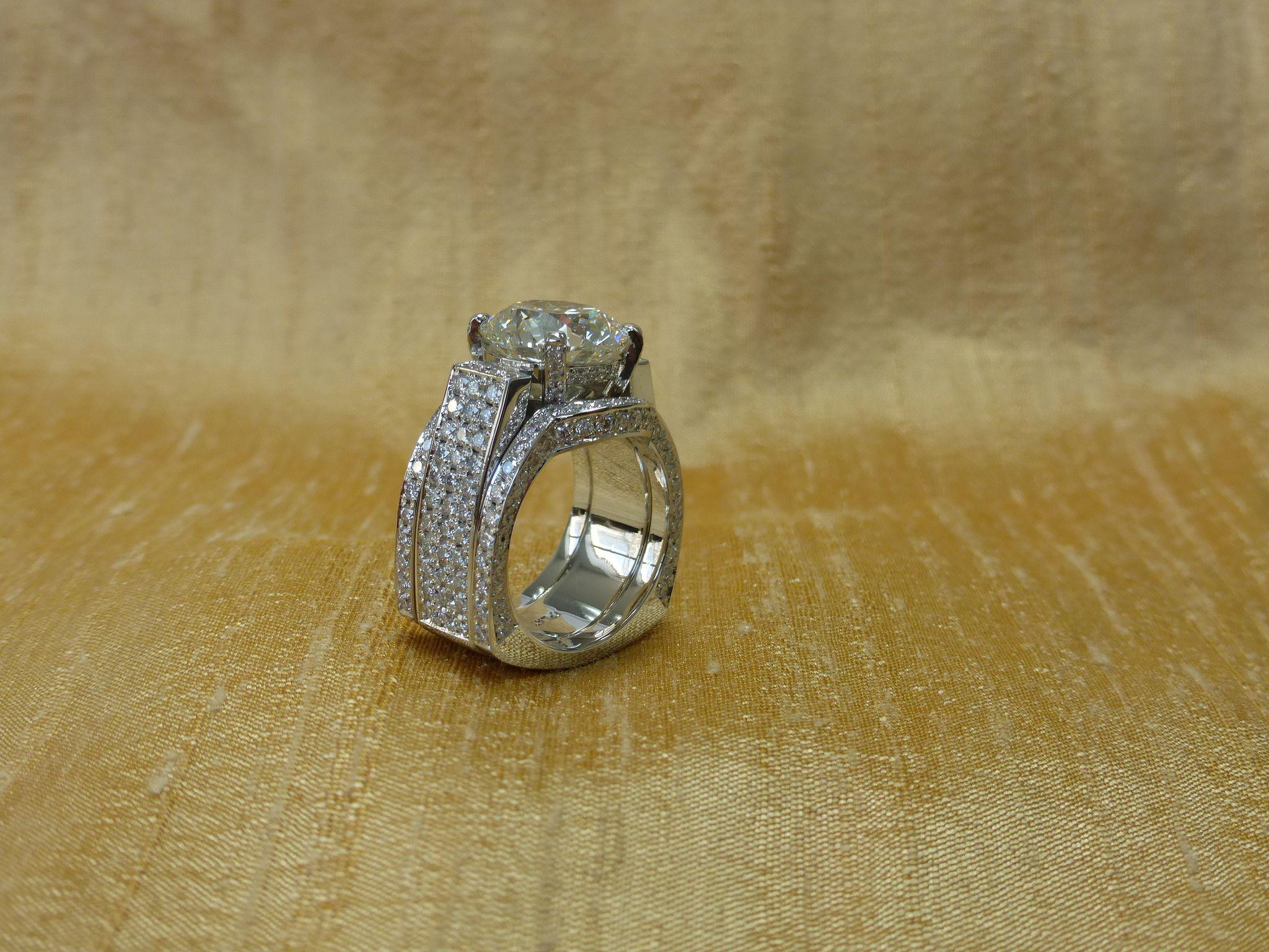 100k Custom Diamond Center Stone With Diamond Accents Ring Diamond Accent Ring Diamond Accent Accent Ring