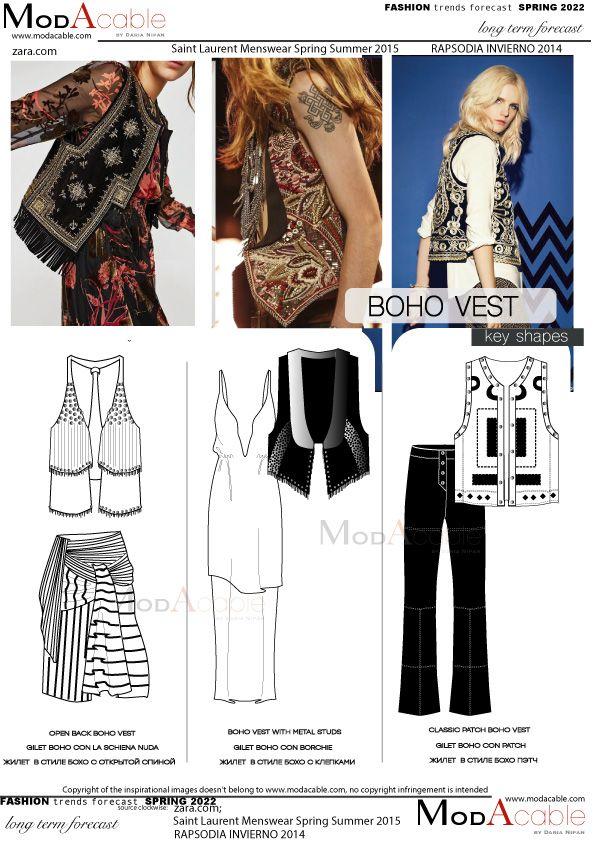 Spring 2022 trend Boho vest in 2020   Fashion trend ...