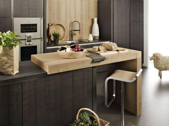 Cuisine Avec Plan De Travail Modulable K I T C H E N Pinterest - Table de cuisine avec plan de travail