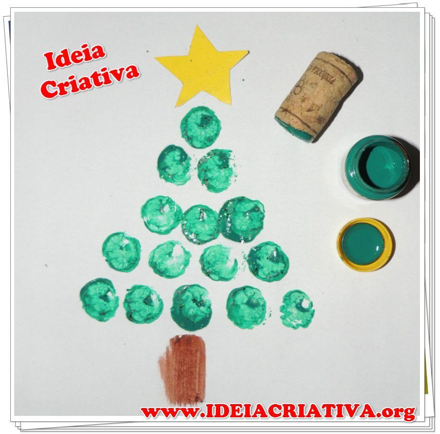 Suficiente Árvore de Natal Técnica de pintura Carimbo de Rolha atividade  NH62