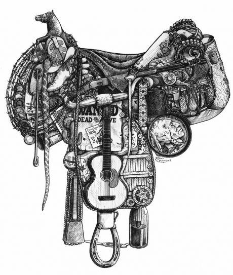 Saddle Gear Art Horse Heart Horse Tattoo