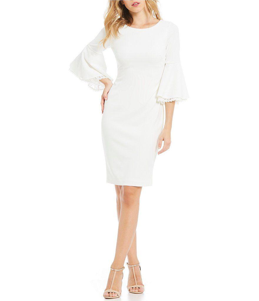1f1d64770b Calvin Klein Double Bell Sleeve Sheath Dress