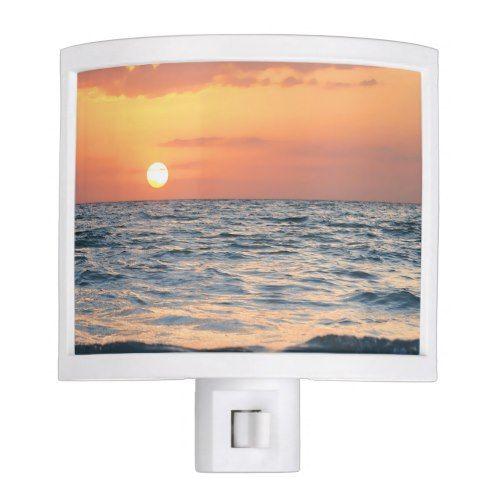 Beach Themed Night Light Sunset Zazzle Com Night Light