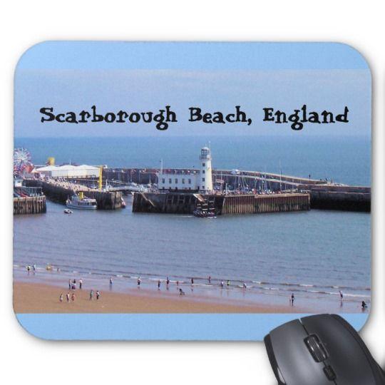 Scarborough Beach, England Mouse Pad