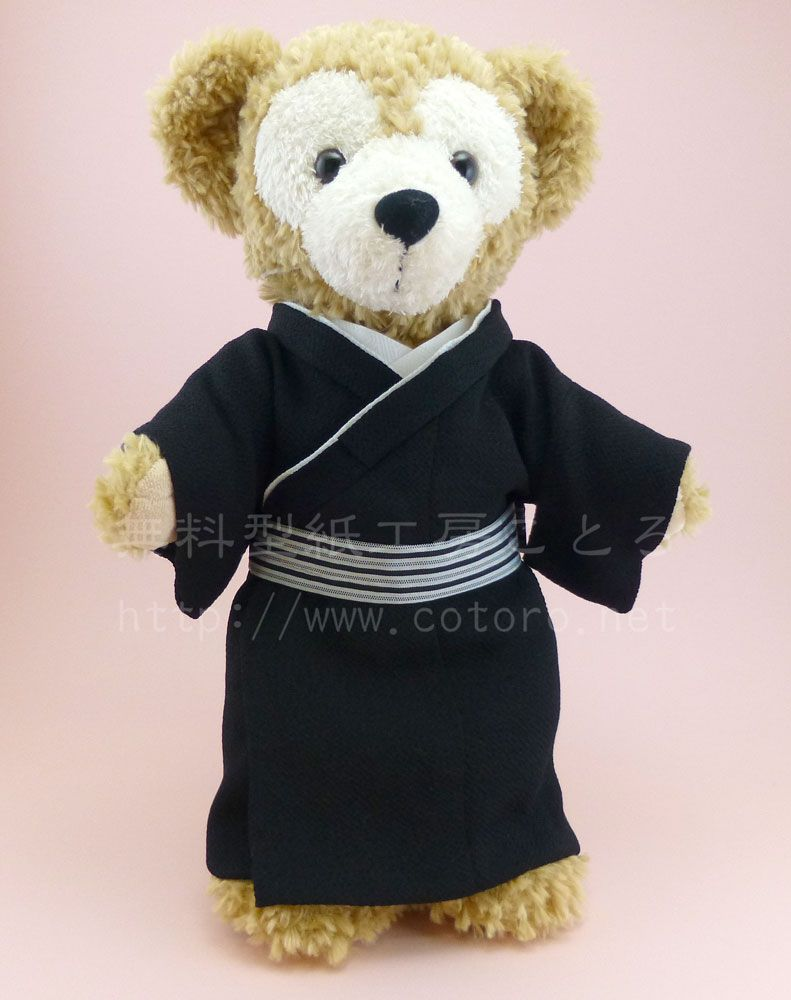 free pdf sewing pattern, kimono for Duffy doll, Japanese site ...