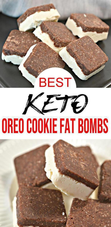 Keto Fat Bombs – BEST Keto Oreo Keks Fat Bombs – {Easy – NO Bake} KEIN Zucker Keks und Sahne …