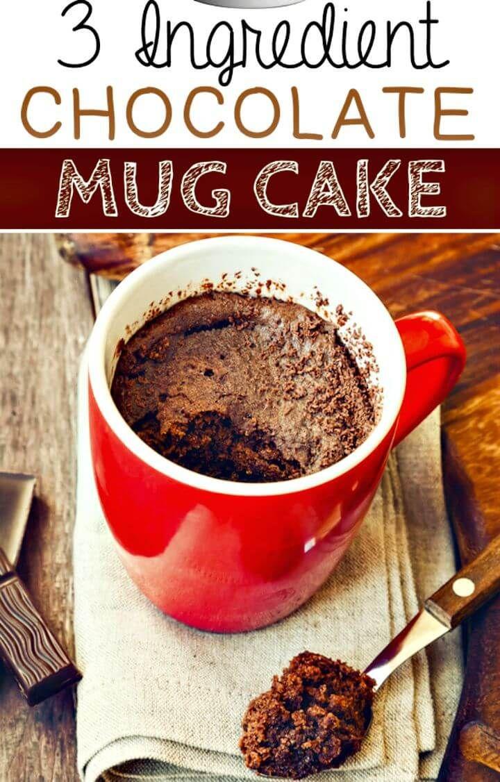3 ingredient mug cake no cocoa