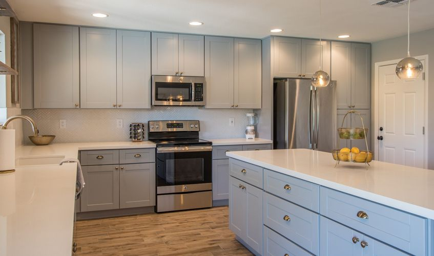 Ash Gray Shaker Kitchen Cabinets New Kitchen Cabinets Cabinet