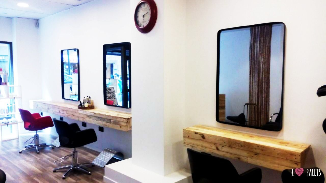 Muebles de palets para una peluquer a salon muebles for Idea de muebles quedarse