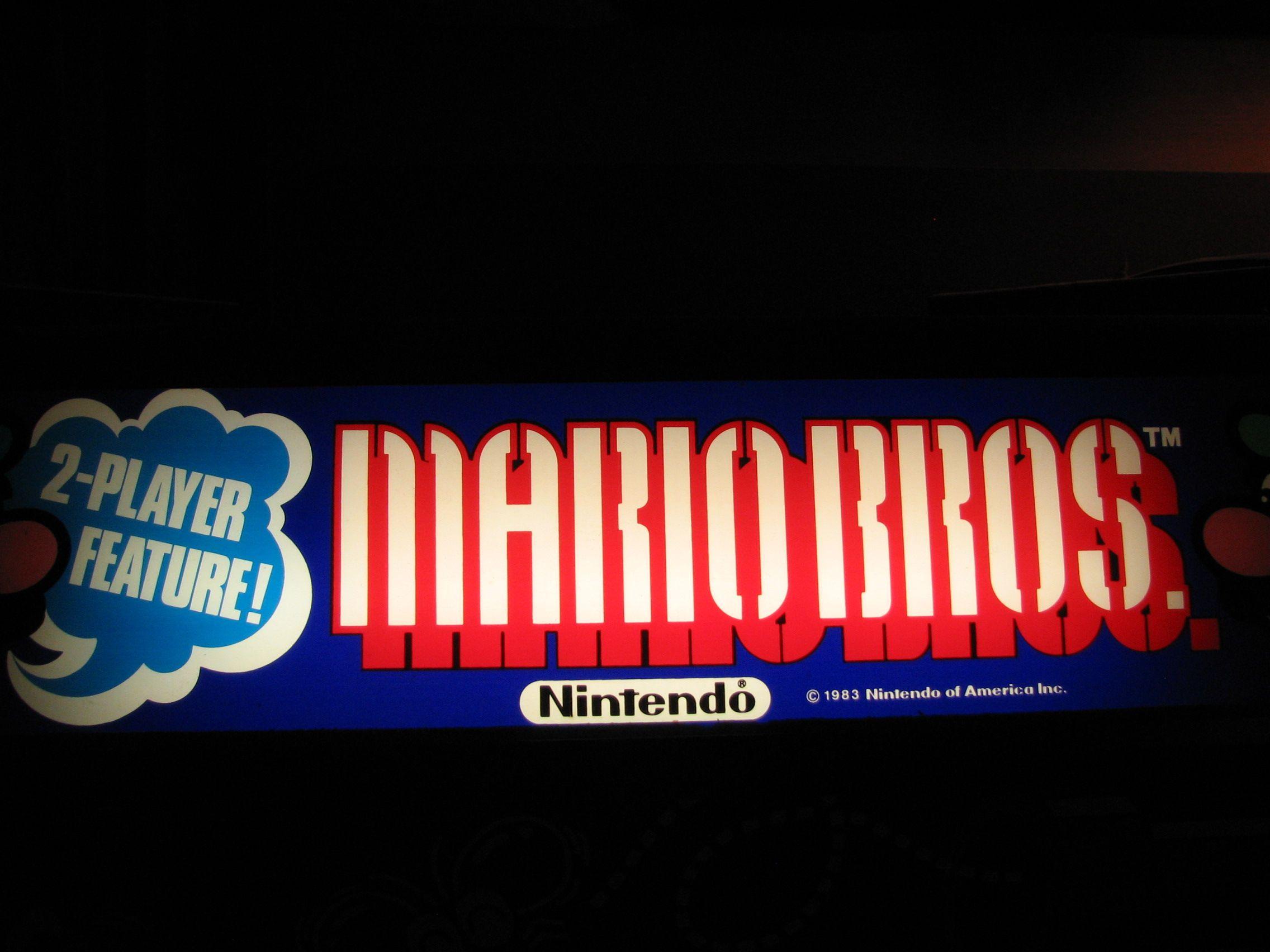 Mario Bros Marquee Mario Bros Arcade Game Machines Arcade