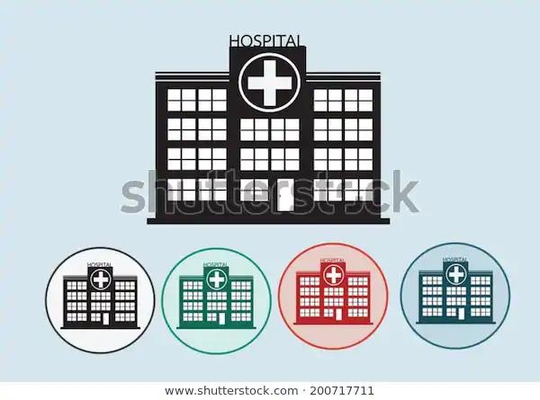 Hospital Building Icon Design Illustration Stock Vector Royalty Free 200717711 In 2020 Building Icon Icon Design Creative Advertising