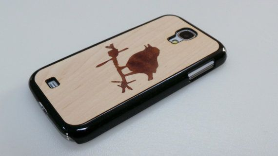 Bird on Barbed Wire Samsung Galaxy S4 REAL Wood by OutlawLaser, $31.99
