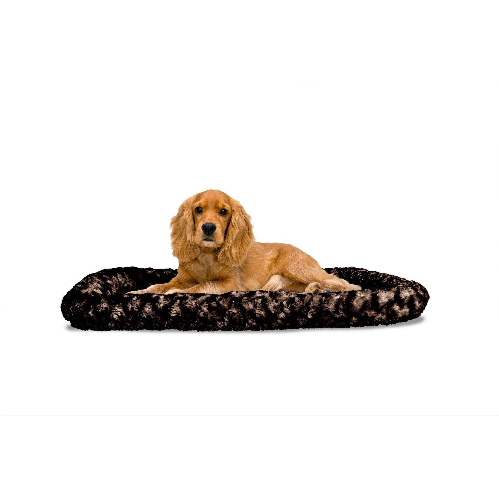 FurHaven NAP UltraPlush CrateBolster Dog Bed (Strawberry