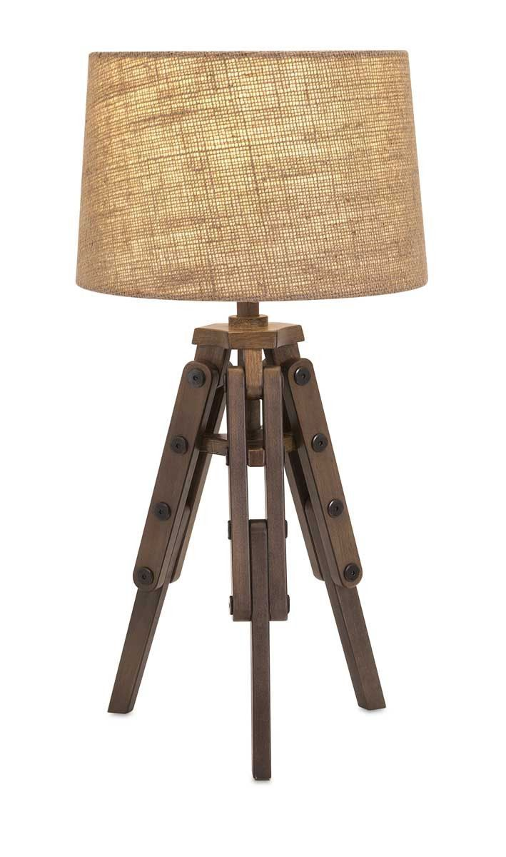 Make A Stand For Hip Design With A Wood Table Lamp On A Tripod