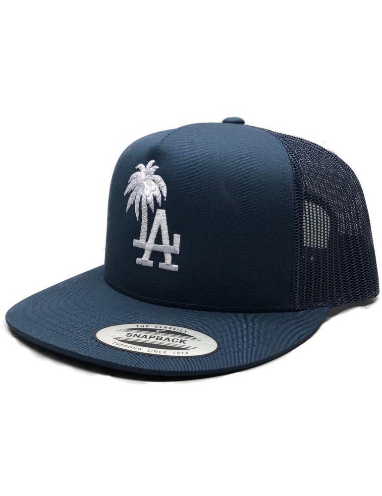 La Los Angeles Palm Tree Cotton Adjustable Trucker Hat Free Shipping Losangelesdodgers