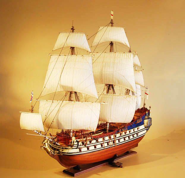 HMS Unicorn Model Ship Port Bow