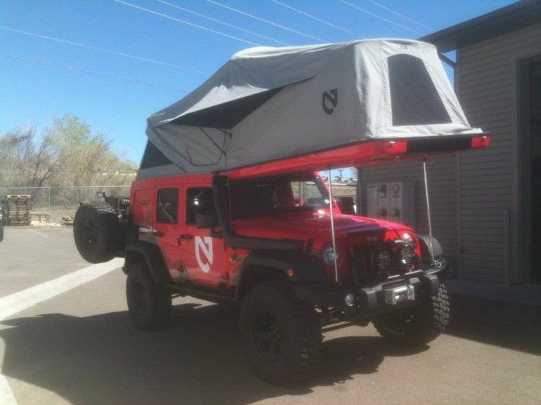 The J180 Is Ursa Minor S Other Wrangler Camper Now This Is A Little Better I Could Do A Weekend In This Jeep Wrangler Pop Top Camper Jeep Jamboree