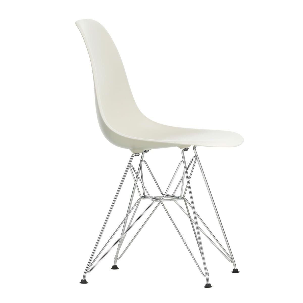 Vitra Eames Plastic Side Chair Dsr Verchromt Kieselstein Filzgleiter Basic Dark In 2020 Chair Eames Furniture
