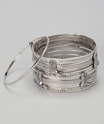 Western Style: Women's Accessories  -  Silver Cowboy Boot Bangle Set - Zulily WANT!!!!!
