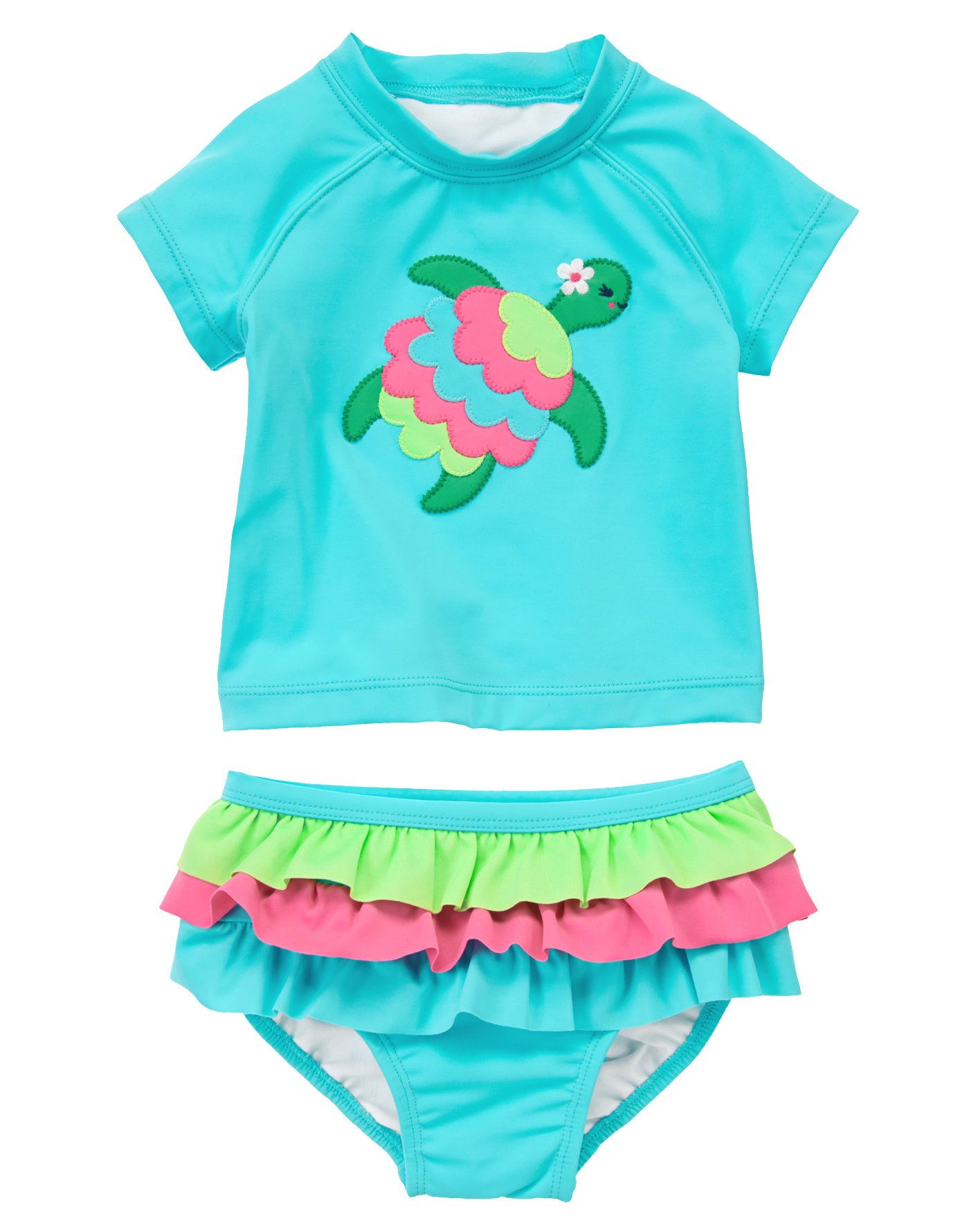 ffaee4f0350e89 Turtle Ruffle Rash Guard Set at Gymboree Collection Name  Swim Shop (March  2014)