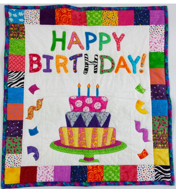 Quilted Wall Hanging Happy Birthday Home
