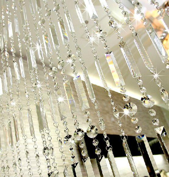 Cortina de cristal do grânulo cortina produto acabado partição ...