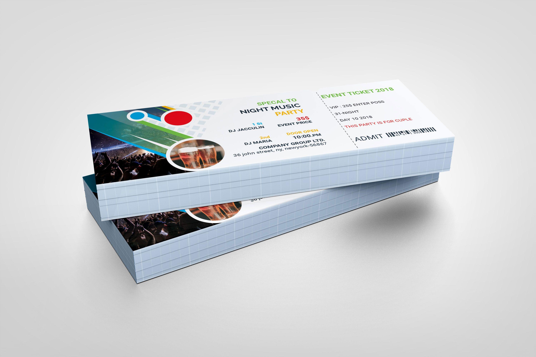Top PSD Event Ticket Template (Dengan gambar) | Desain ...