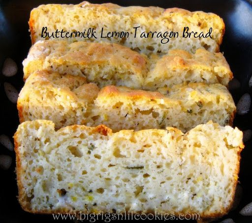 Buttermilk Lemon Tarragon Bread Recipe Yummly Recipe Bread Lemon Recipes Recipes