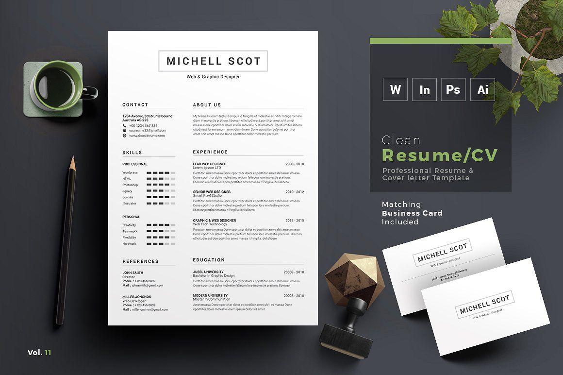 Resume/CV Cv words, Clean resume template, Resume