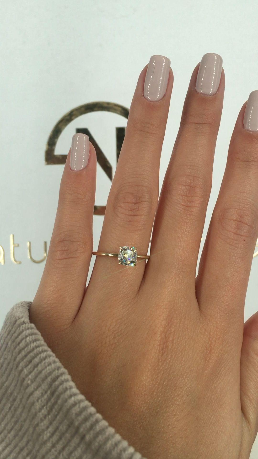 Gorgeous cushion cut engagement ring