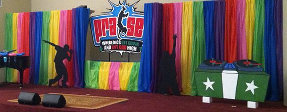 Vbs Stage Stage Design Based Off The Go Fish Praise Vbs
