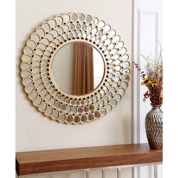 Abbyson Jaxon Round Wall Mirror By