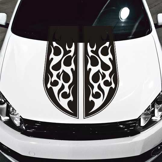 Tribal Flames Stripe Car Hood Decal Car Hood Decals Pinterest - Best automobile graphics and patternsbest stickers on the car hood images on pinterest cars hoods
