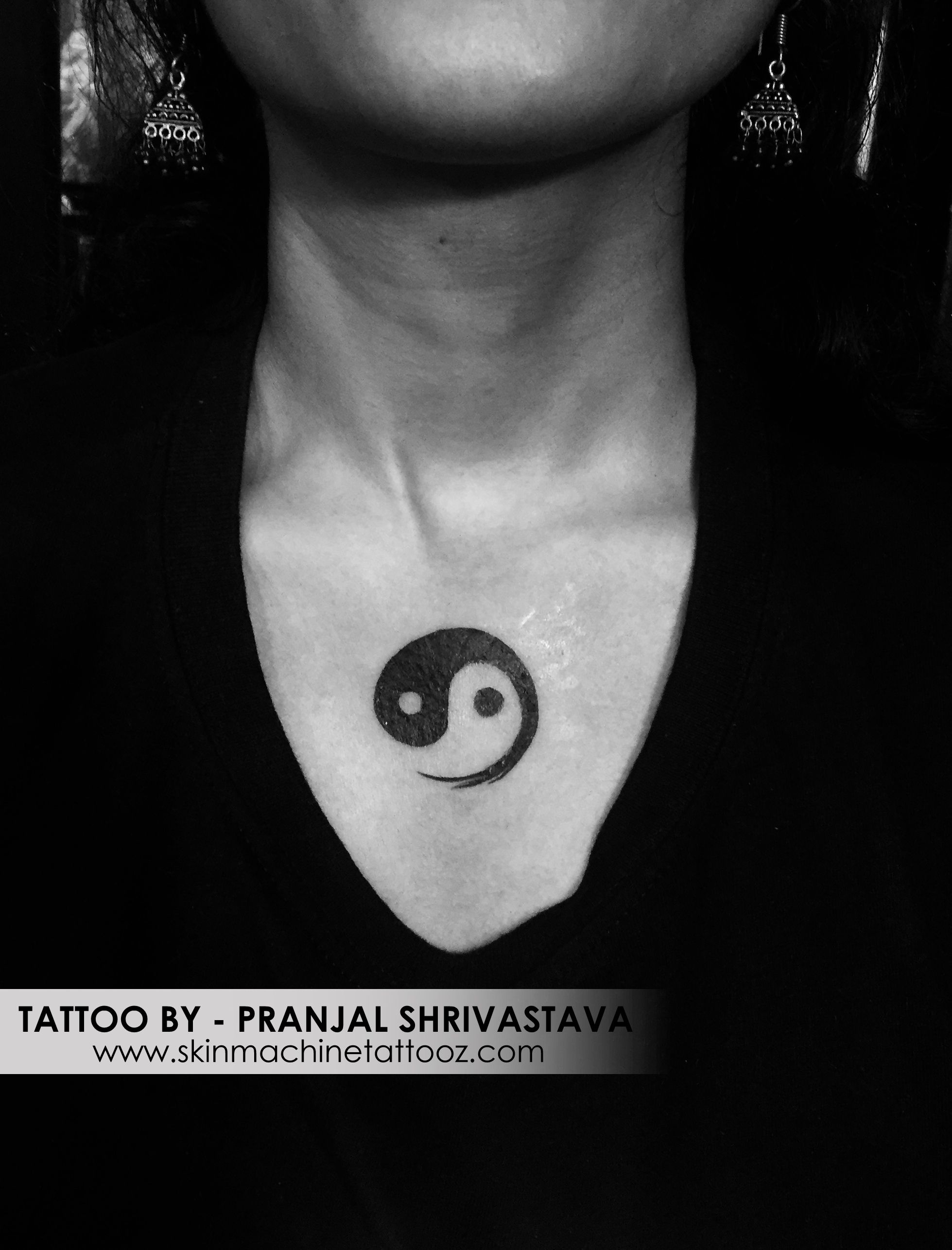 Yin Yang Tattoo Dark Skin: Yin-Yang Tattoo By : Pranjal Shrivastava Skin Machine