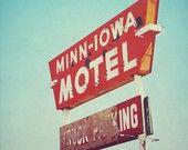Minn-Iowa Motel - 8x8 fine art retro american motel photo