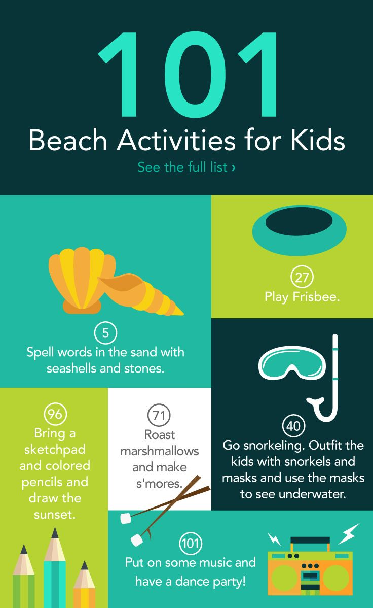 101 Beach Activities For Kids