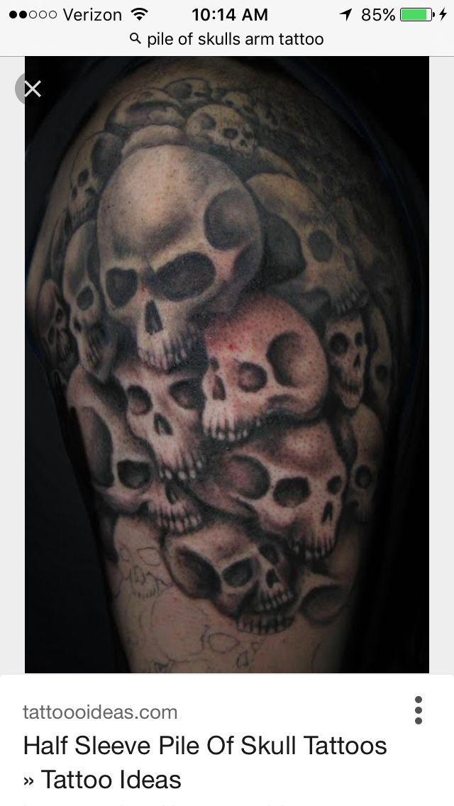 pile of skulls tattoo on arm planet tattoos and a few others i enjoyed pinterest planet. Black Bedroom Furniture Sets. Home Design Ideas