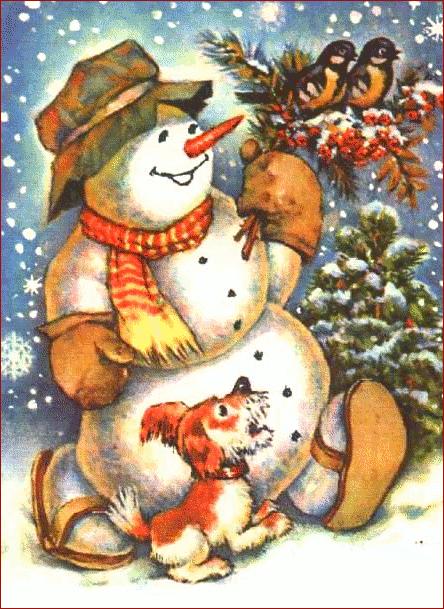 christmas animal clipart free | Free Christmas Clip Art Snowman ...