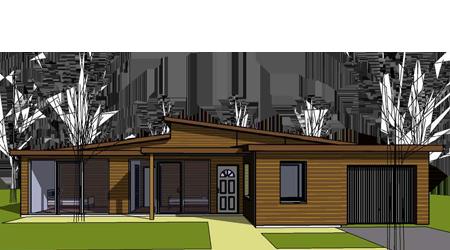toit décalé | projet maison | pinterest | projet maison, projet et ... - Plan Maison Bois Plain Pied 4 Chambres