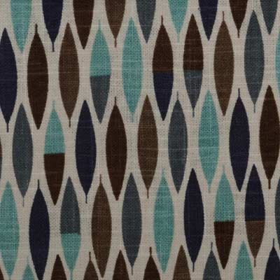 home decor fabrics by the yard. Aqua Navy Blue Geometric Linen Upholstery Fabric  Brown Modern Home Decor By The Yard