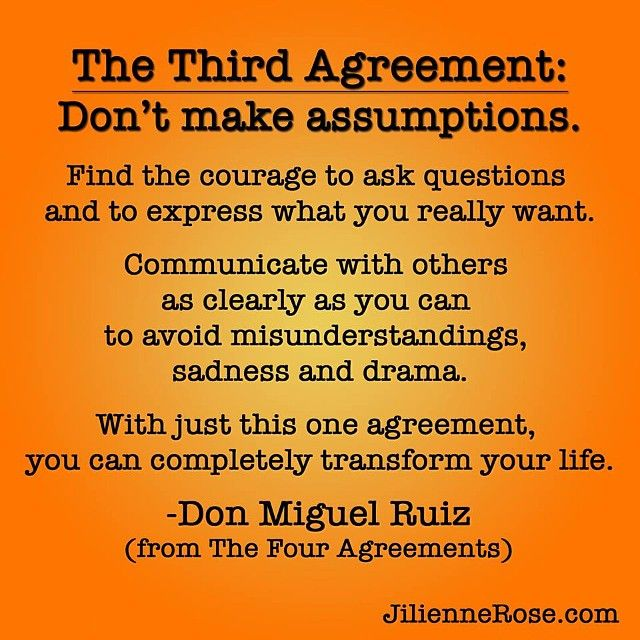 The Third Agreement Donu0027t make assumptions - Don Miguel Ruiz - transfer agreements
