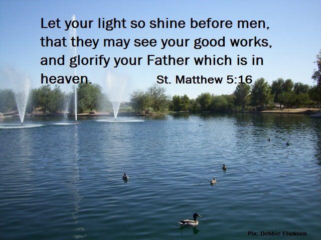 Let your light shine.  Photo of Maricopa, Arizona by Debbie Elicksen