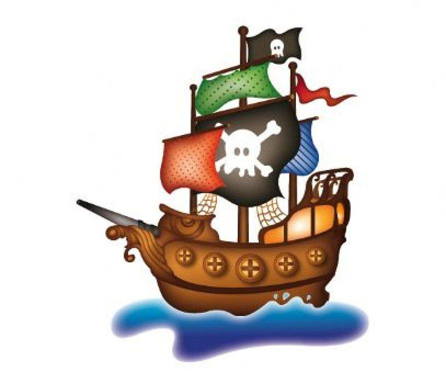cuadros de barcos piratas  Barco pirata Piratas y Es facil