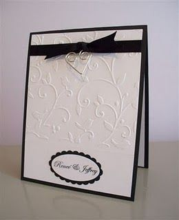 Black White Wedding Invitation By Lalatty Cards And Paper Crafts At Splitcoaststampers