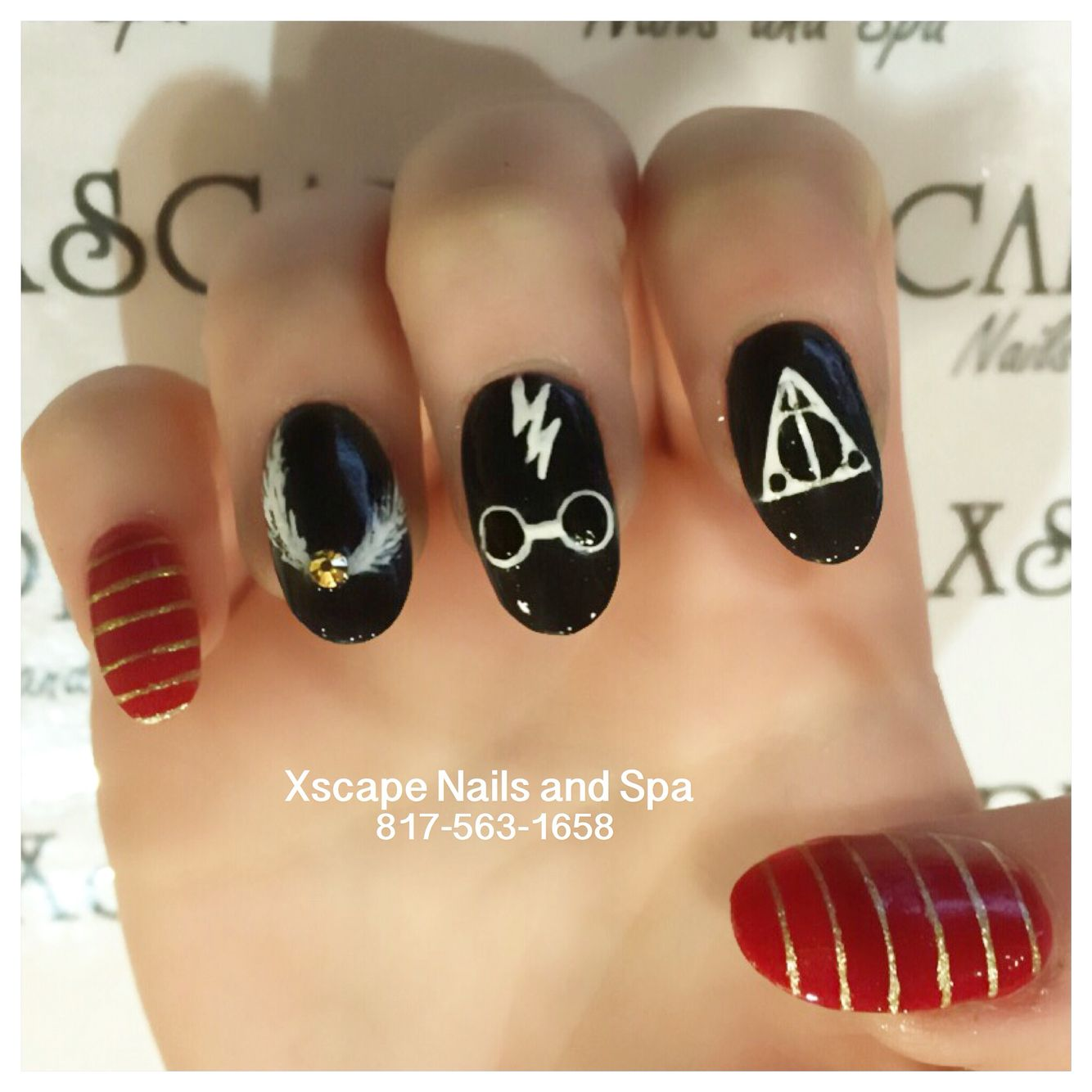 Harry Potter Nails Harry Potter Nails Designs Harry Potter